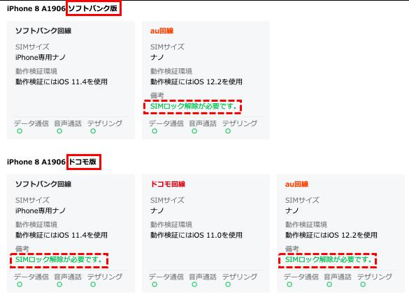 LINEモバイル動作確認端末の検索結果