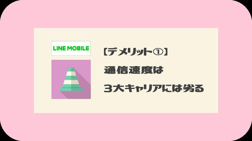 LINEモバイルのデメリット①:通信速度は3大キャリアよりは遅い