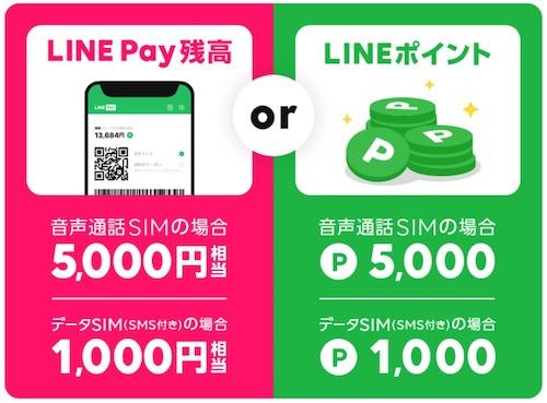 LINEモバイル5000円キャンペーン