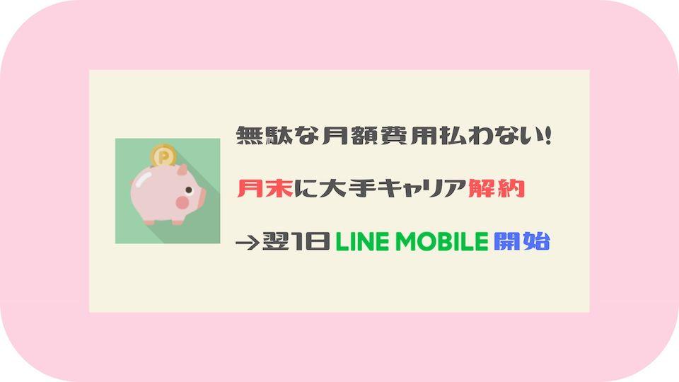 月末解約&翌1日LINEモバイル乗り換える方法