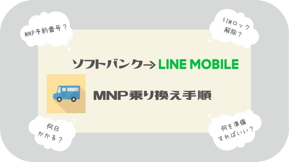 ソフトバンクからLINEモバイルMNP乗り換え手順