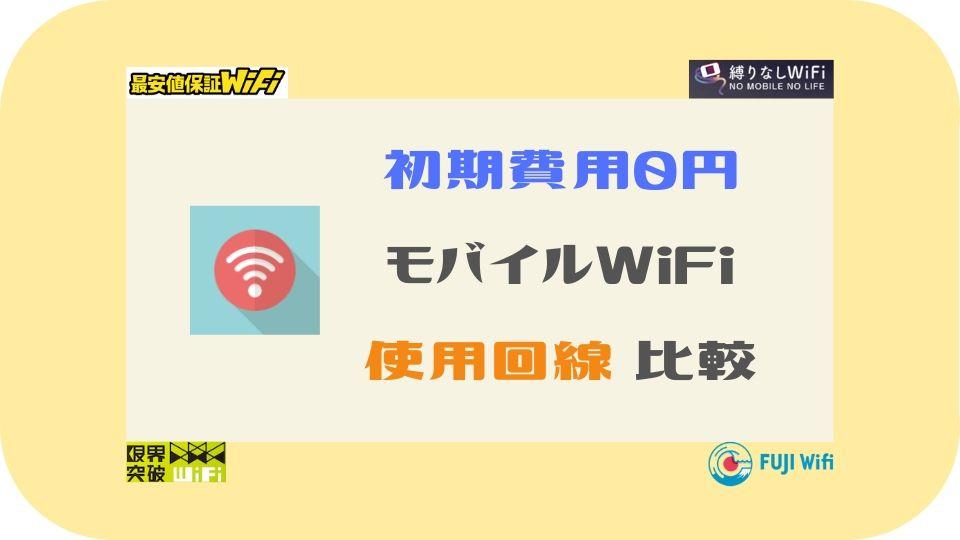 初期費用0円ポケットWiFi比較-使用回線