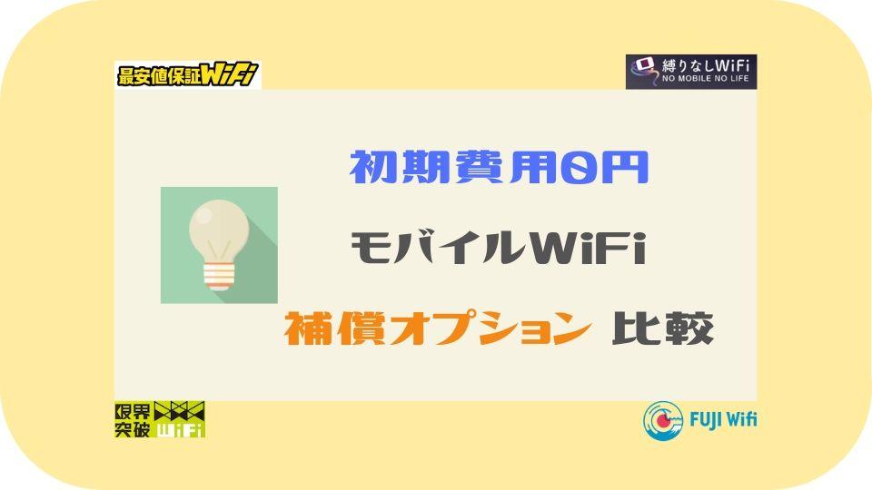 初期費用0円ポケットWiFi比較-補償オプション
