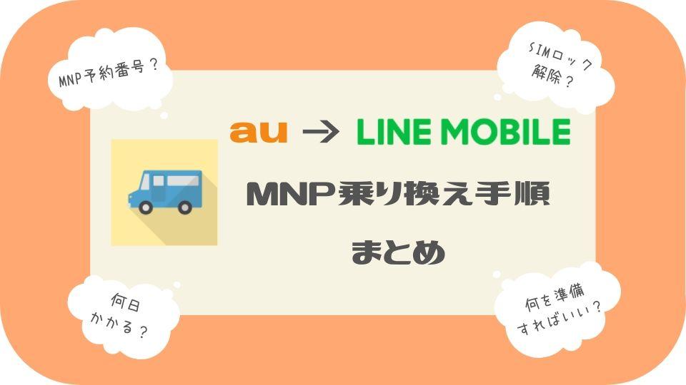auからLINEモバイルMNP乗り換え手順まとめ